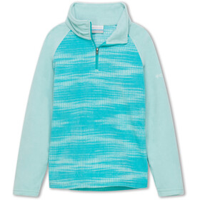 Columbia Glacial II Bedrukte Fleece Trui met 1/2 rits Meisjes, geyser diamond/spray
